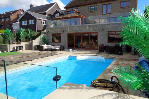 Pool renovation - block and liner sand filtration kit